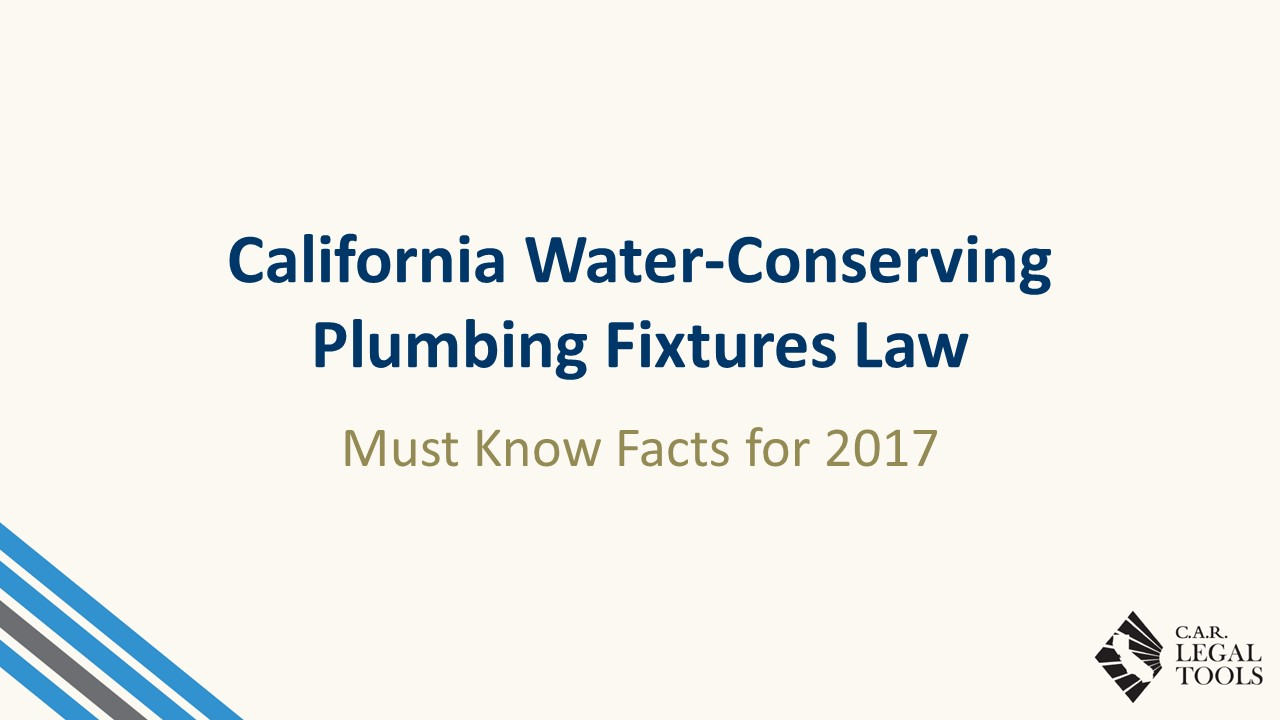 Water - Conserving Plumbing Fixtures