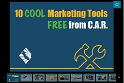 Cool Marketing tools Slide show title slide