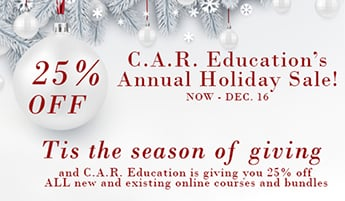 C.A.R. Education's Holiday Sale